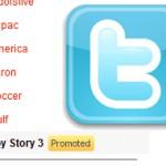 Твиттер таки запустил рекламу в своем блоке Trending Topics