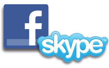 facebook-skype-logos