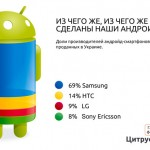 Структура украинского рынка смартфонов в 2011 году по версии магазинов Citrus