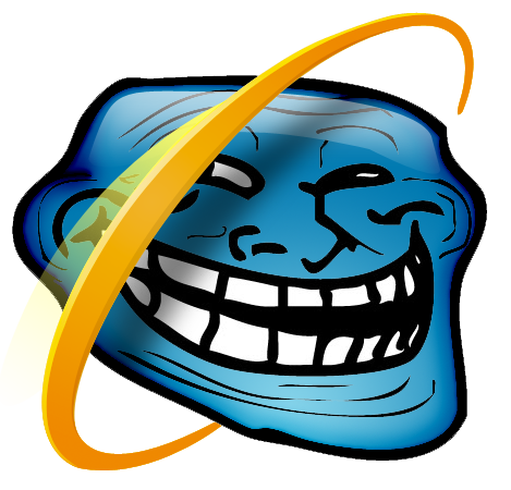IE 6 troll (internet explorer, browser, trollface)
