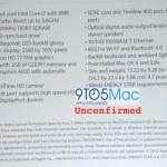 Новое фото: характеристики 15-дюймового MacBook Pro