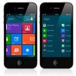 Интерфейс Windows 8 Metro на iPhone и iPod Touch