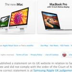 Apple признала поражение перед Samsung в Великобритании. По-настоящему