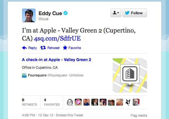 Apple может купить Foursquare