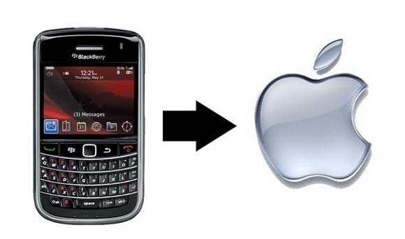 Миграция пользователей Blackberry на iPhone продолжается