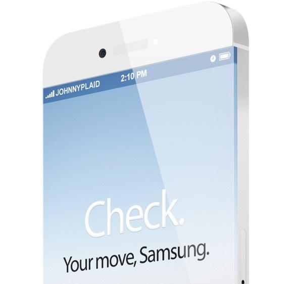Концепт «безрамочного» iPhone 6