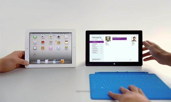Microsoft продолжает высмеивать iPad в рекламе Surface RT