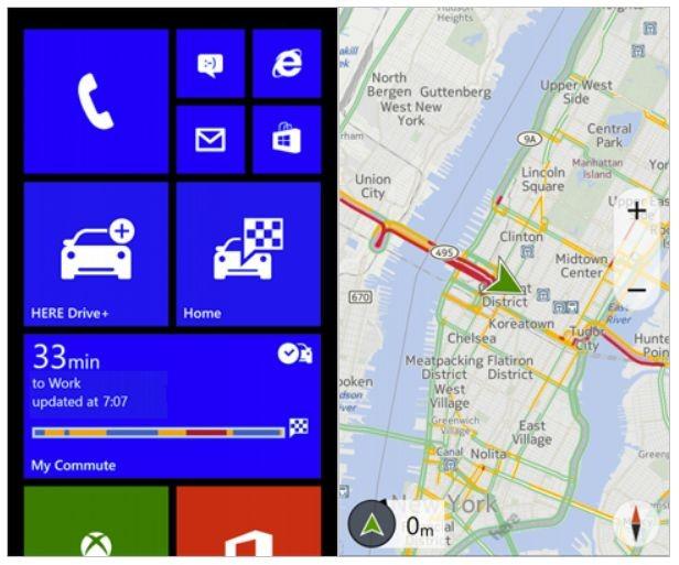 Nokia предоставила приложения HERE Drive (+) для всех WP8-смартфонов