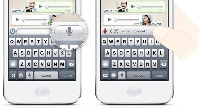 В мессенджере WhatsApp появились голосовые сообщения