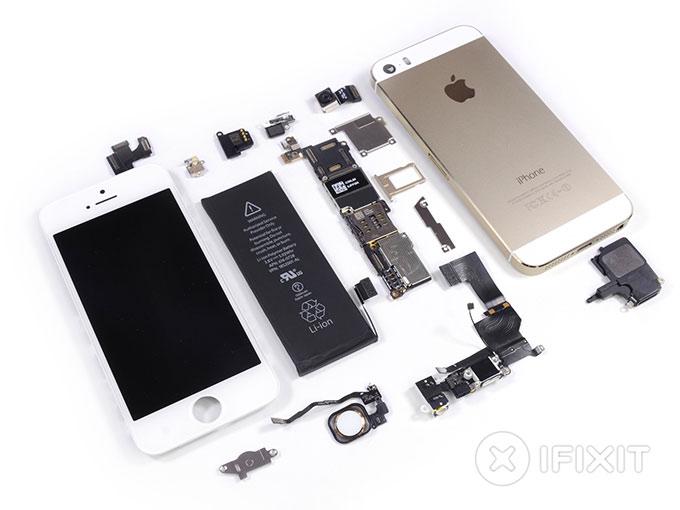Мастера iFixit добрались до iPhone 5s
