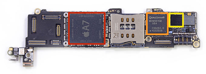 Производителем процессора А7 оказалась Samsung