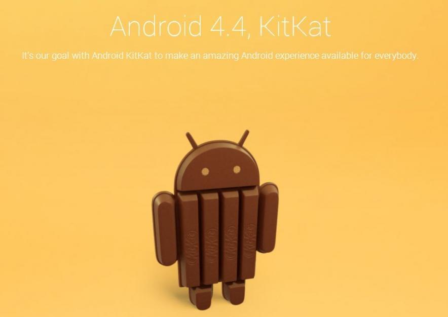Новая версия Android — 4.4 KitKat