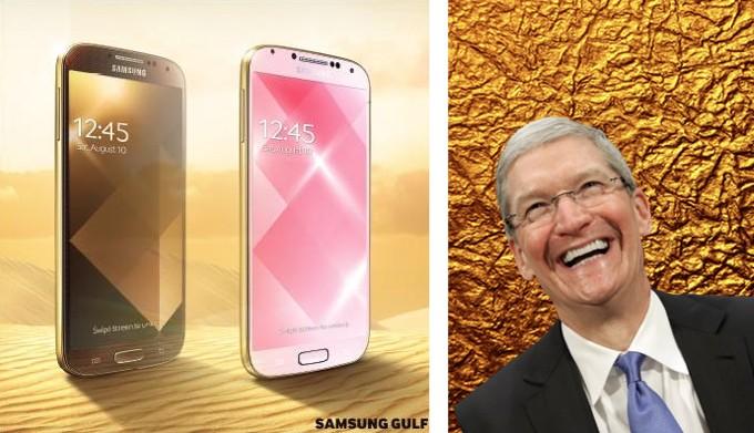 Samsung выпускает «золотую» версию Galaxy S4