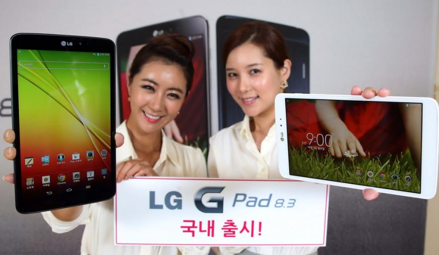 Старт продаж мощного планшета LG G Pad 8.3
