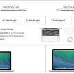 Новые MacBook Pro с дисплеем Retina можно заказать в России