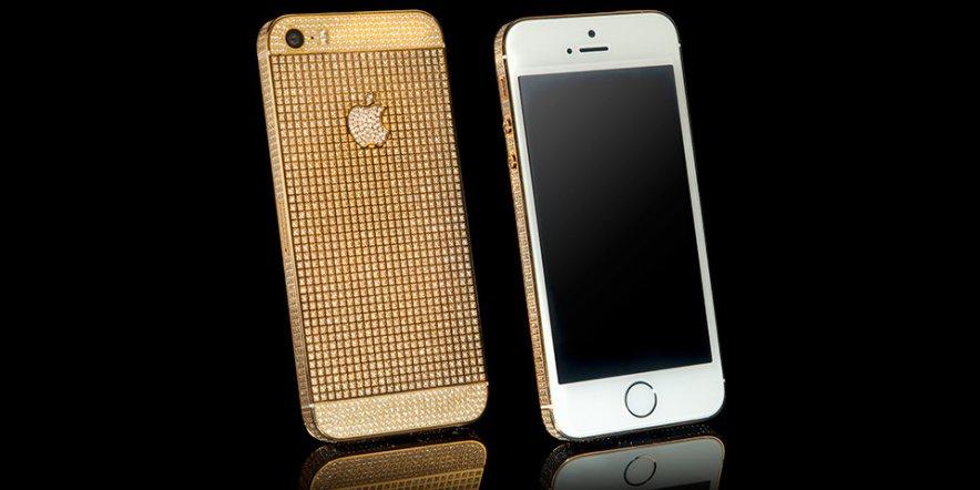 iPhone 5s Supernova — смартфон Apple в золоте и с кристаллами Swarovski