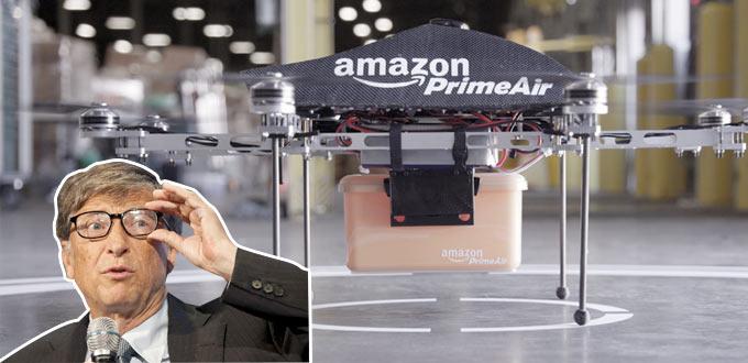 Билл Гейтс поддержал намерение Amazon доставлять товары беспилотными дронами