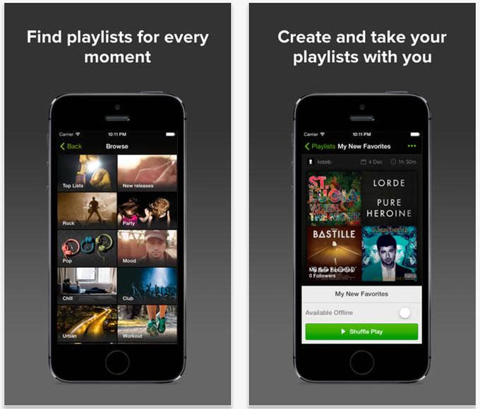 Сервис Spotify стал бесплатным для владельцев iPhone и iPad