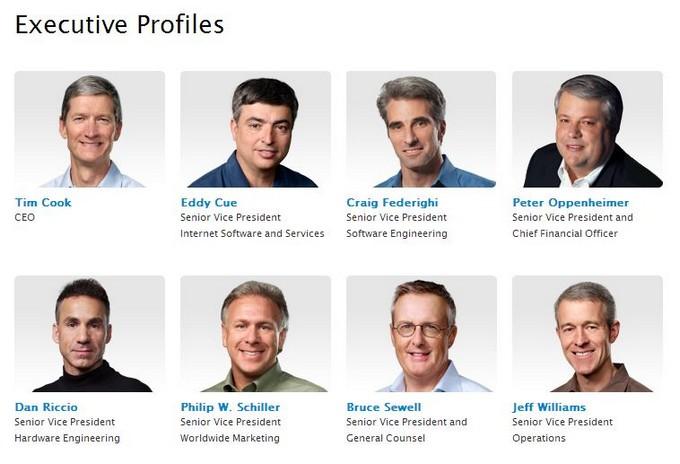 Джонатан Айв исчез из списка руководителей Apple