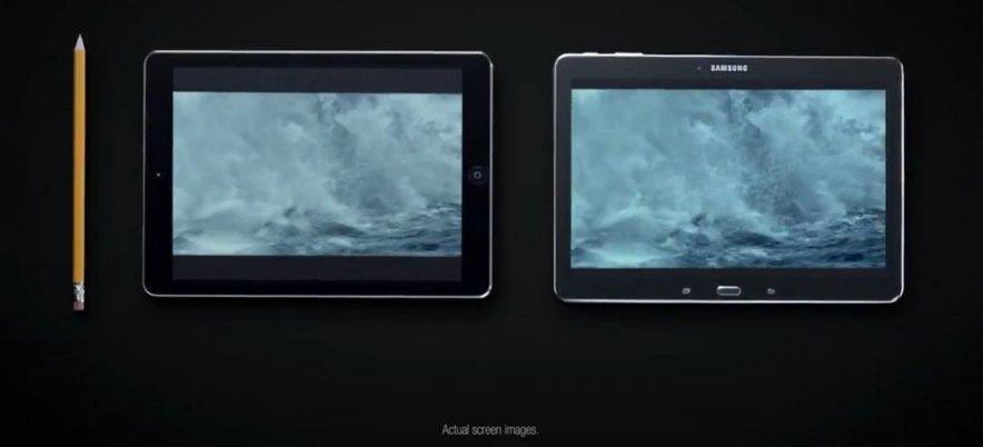 Samsung высмеяла iPhone и iPad в рекламе своих устройств