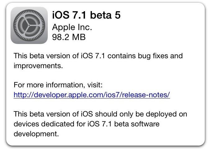 Вышла iOS 7.1 beta 5 с обновлением голосов для Siri