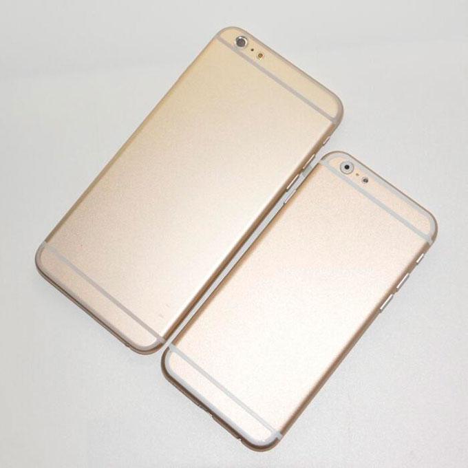 Опубликованы сравнительные снимки макетов 4,7- и 5,5-дюймового iPhone 6