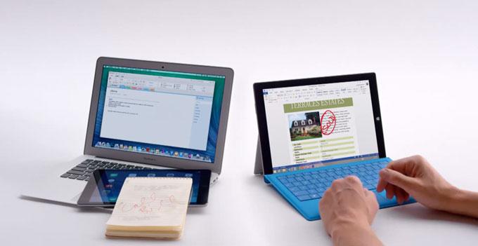 Microsoft сравнила Surface Pro 3 с MacBook Air в серии рекламных роликов