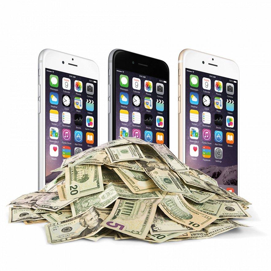 Себестоимость iPhone 6... всего 200 баксов