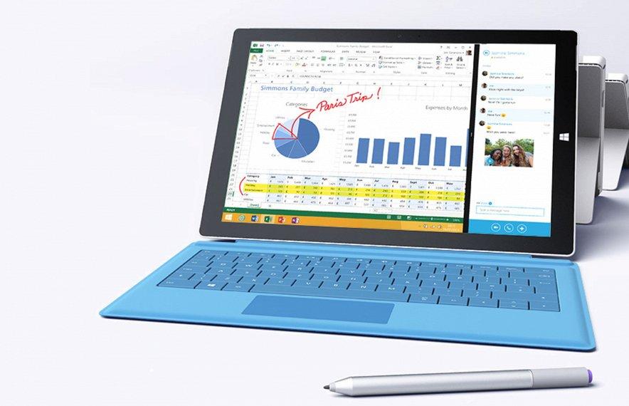 Microsoft: Surface Pro 3 — самый продуктивный планшет в мире