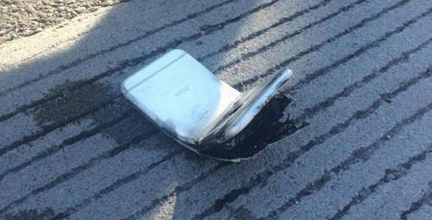 iPhone 6 plus погнулся и загорелся прямо в кармане джинсов