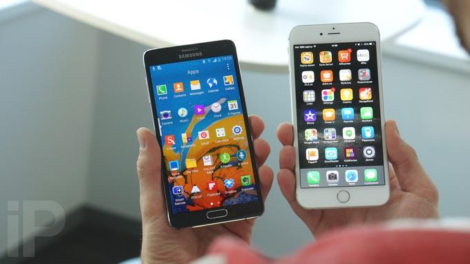 Обзор Samsung Galaxy Note 4 и сравнение с iPhone 6 Plus