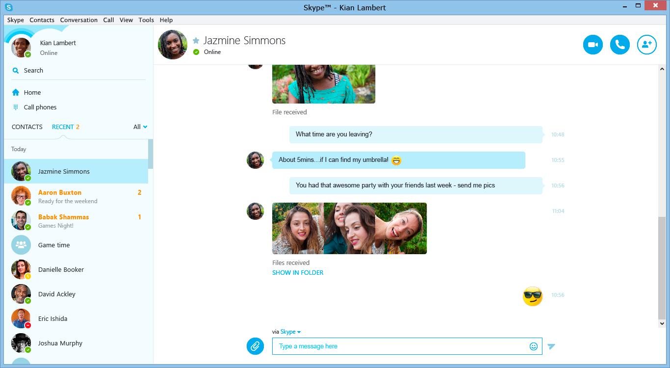 Skype и Lync научились делать видеозвонки друг другу