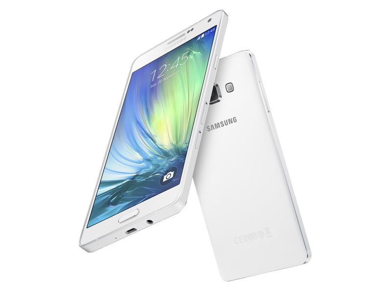 Samsung представила металлический смартфон с большим экраном
