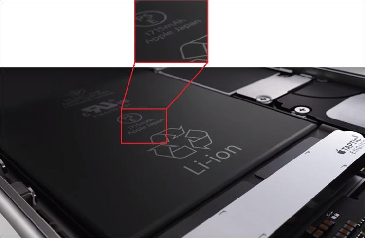 Ёмкость аккумулятора в iPhone 6s уменьшилась по сравнению с iPhone 6 на 5%