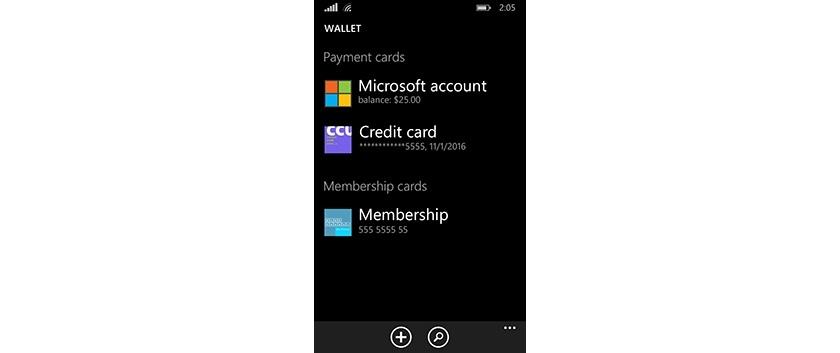 Wallet на Windows Phone 8.1.