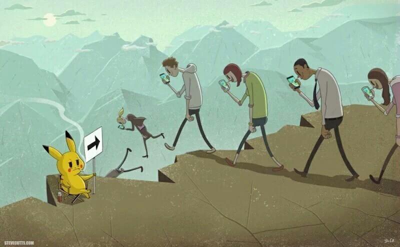 Как в интернете смеются над игрой Pokemon GO