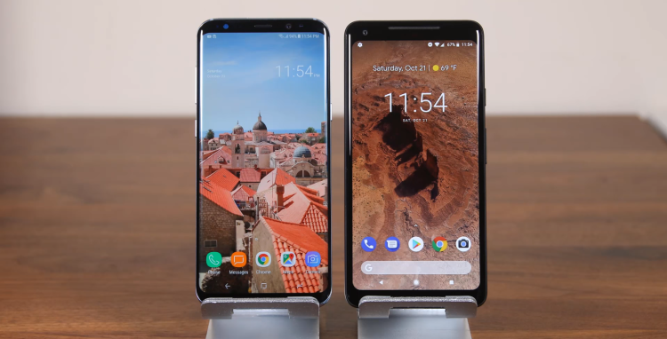 Samsung троллит Google на фоне проблем с дисплеем Pixel 2 XL