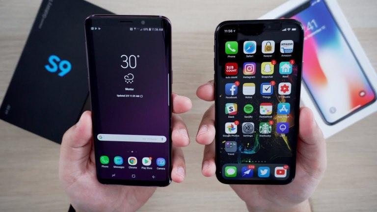 Samsung Galaxy S9+ против iPhone X: кто быстрее? [видео]