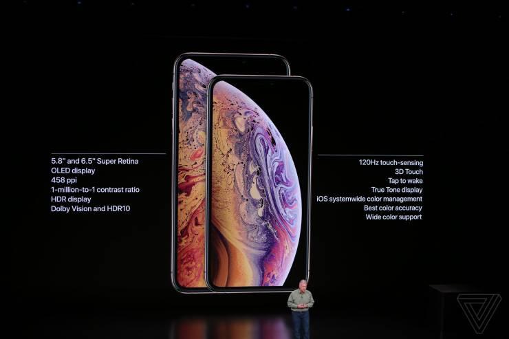 Apple официально представила iPhone XS и XS Max